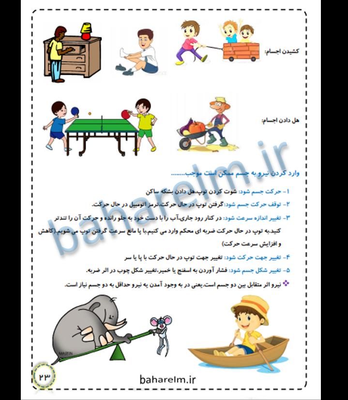 نمونه صفحات جزوه علوم ششم
